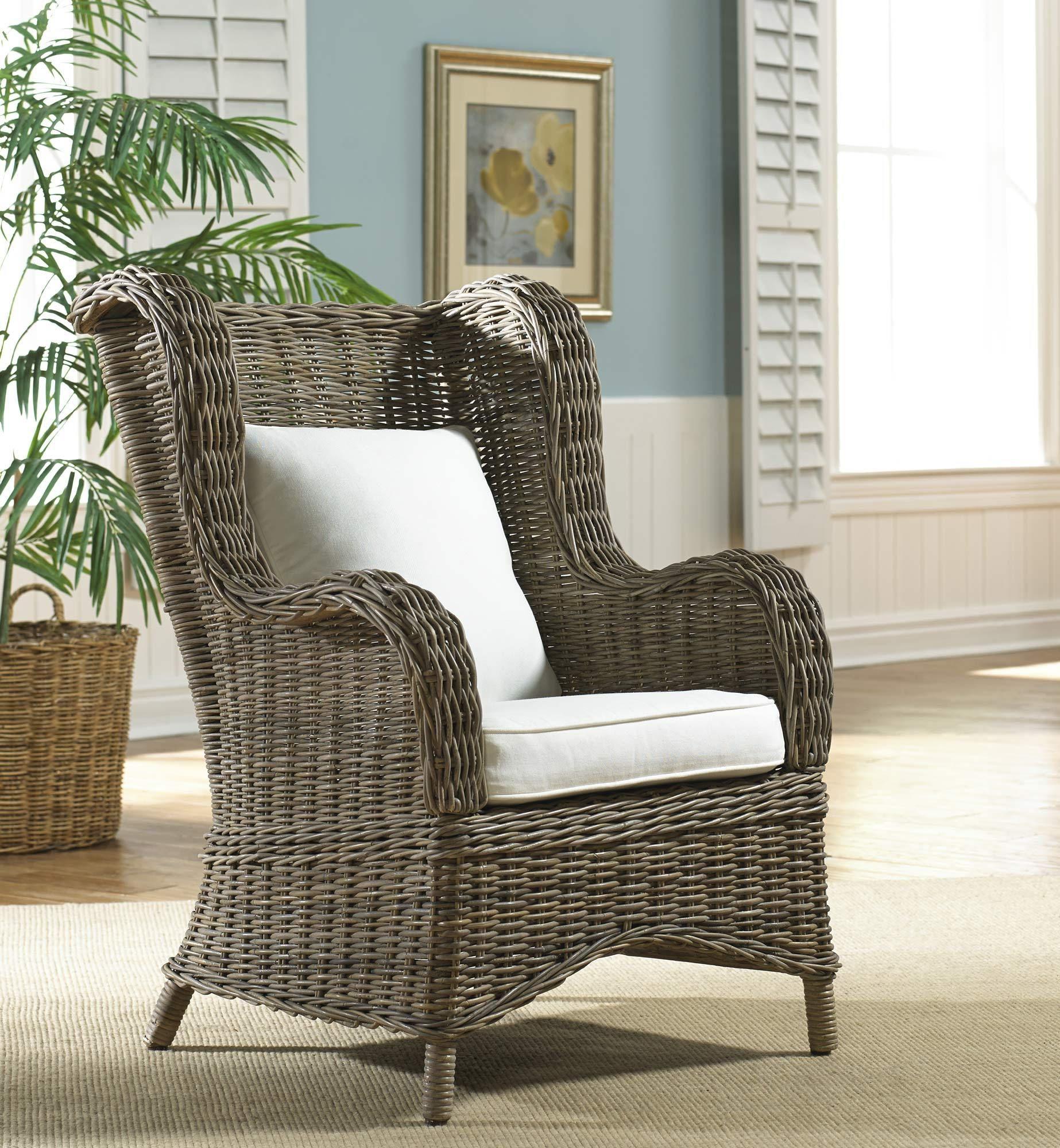 Exuma occasional chair with cushion hospitality rattan