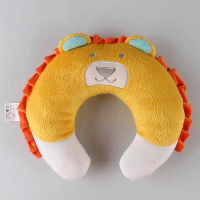 Cute Neck Baby Pillow Children Car Headrest Pillow Suit Baby Pillow infant Cartoon Travel Pillow Protection coussin nuque bebe - White
