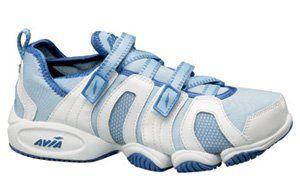 0b60ae7ab251 Avia Women s 606 Aqua Trainer Water Aerobics Shoes Size 10 white sky blue - Avia  606 Aqua Trainer combines the ease and flexibility of a Velcro® lacing ...