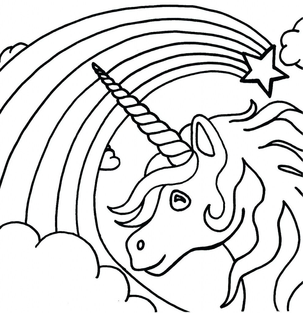 31+ Cute easy unicorn coloring pages ideas