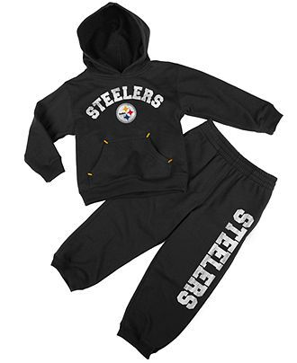 Gray NFL Pittsburgh Steelers Unisex-Baby Long-Sleeve Tee 18 Months