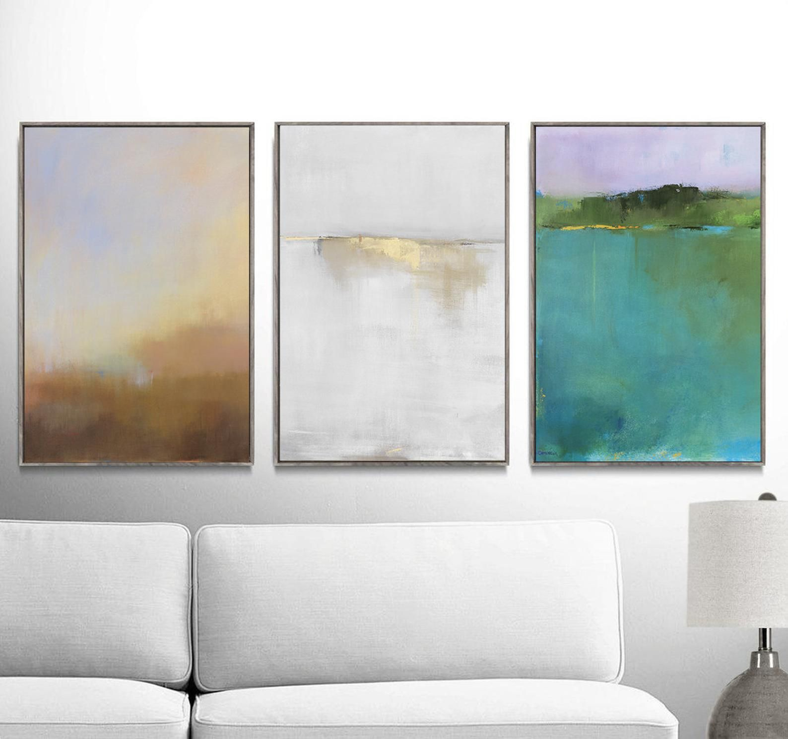 Set Of 3 Abstract Landscape Art Prints Affordable Large Wall Etsy Gallery Wall Prints Landscape Art Prints Large Canvas Prints