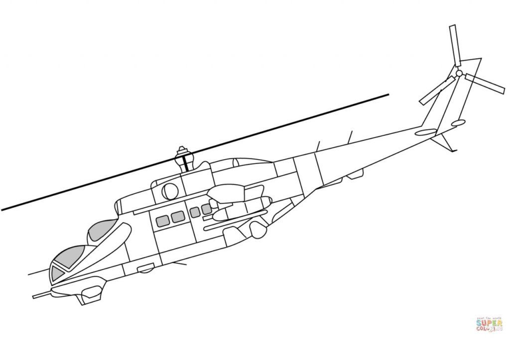 Helicopter Coloring Pages Textos