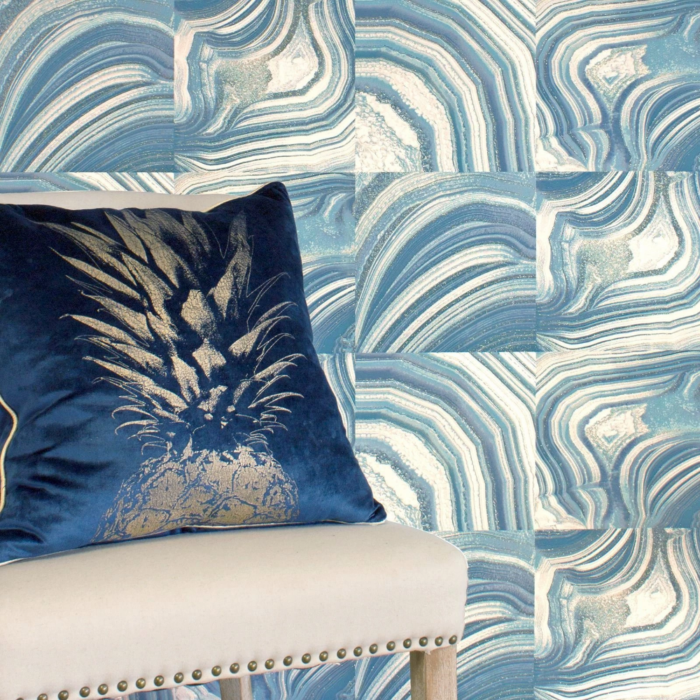 Emporium Savoy Teal Blue wallpapers, Teal wallpaper