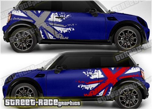 Photo of Mini rally graphics 027 – Union Jack Splatter