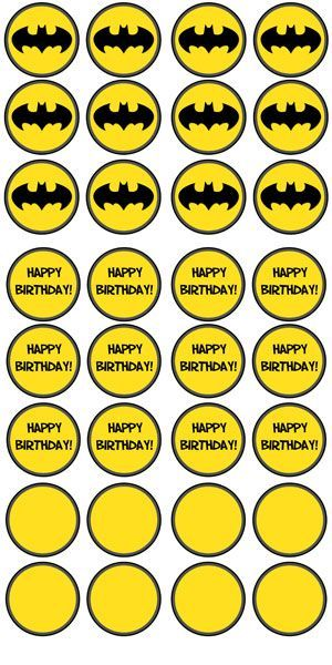 Free Printable Batman Cupcake Toppers Superhero Birthday Party Themes Boy Parties