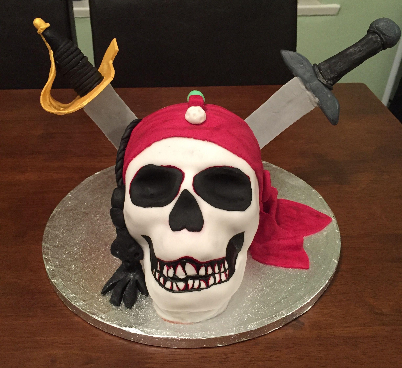 PiratesOfTheCaribbean cake Halloween face, Halloween