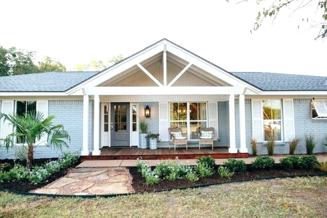 Ranch Houses With Front Porches Google Search Brick Ranch Houses Porch Design Ranch Style Homes