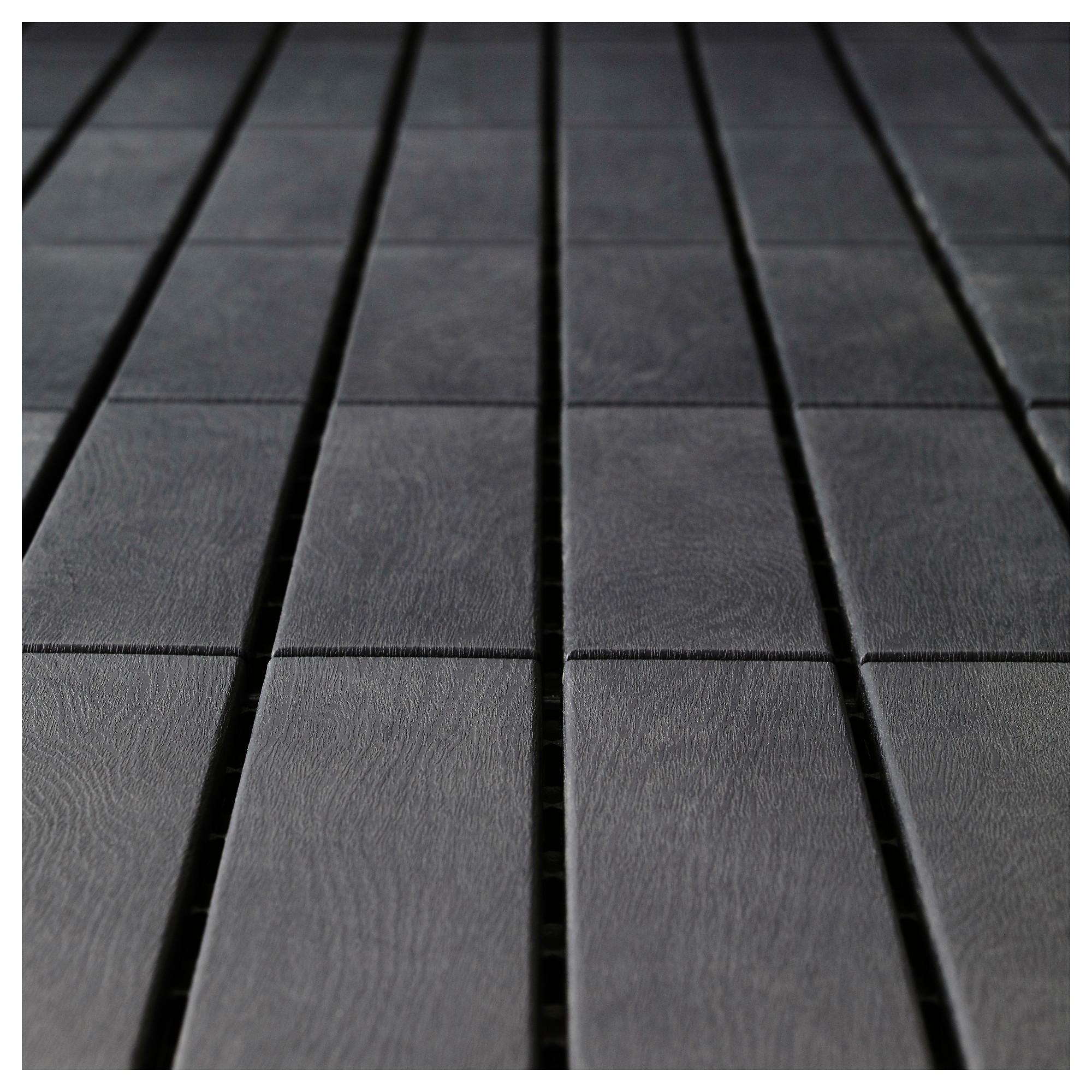IKEA RUNNEN Decking, outdoor dark gray Building a deck