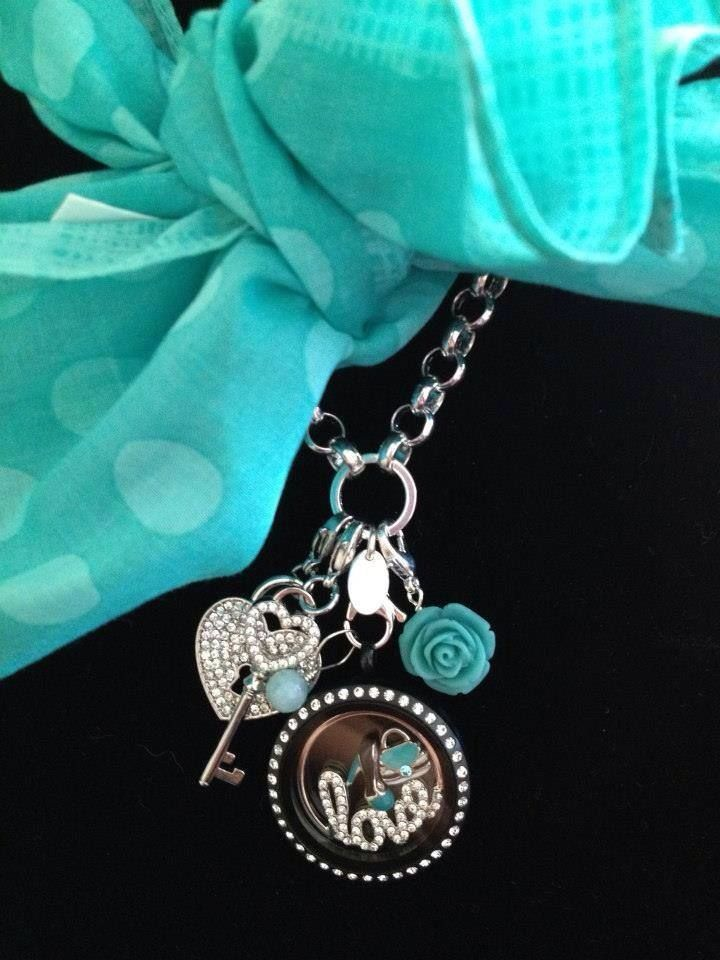 Origami Owl   Love and Aqua!  Ask me how to get the shoe charm and purse for FREE!!!