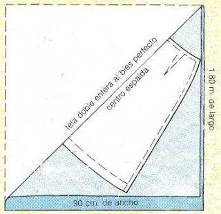 61014f40d Como cortar una falda al sesgo | manualidades | Patrones de costura ...