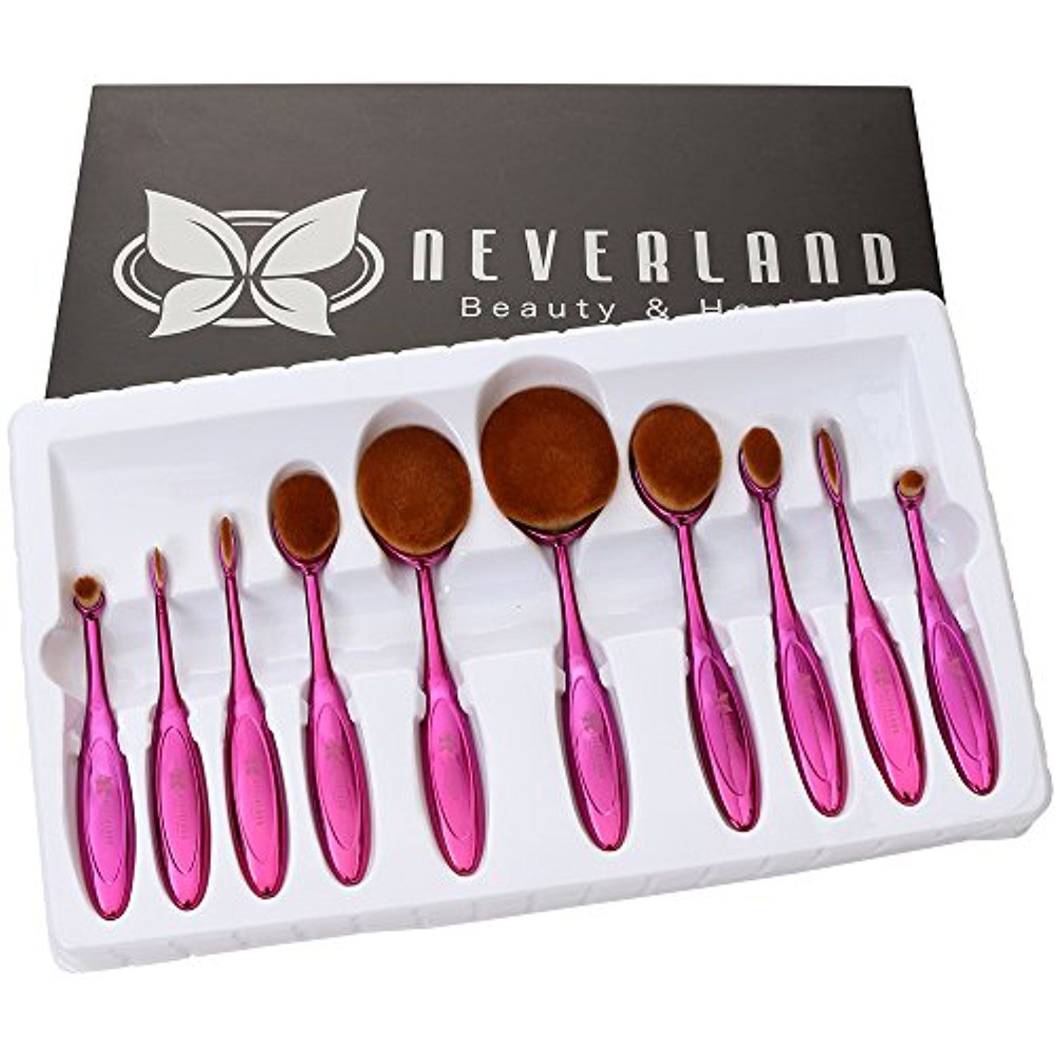 c230c6950459 Neverland Beauty 10pcs Hit Color Rose Red Toothbrush Elite Make-up ...