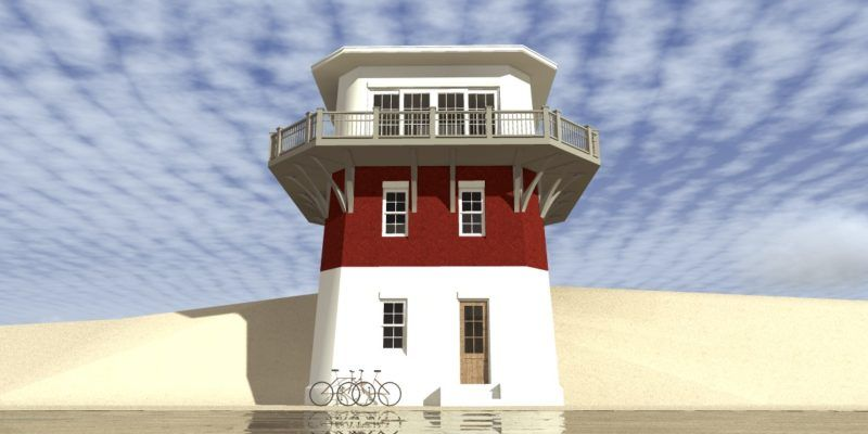 2 Bedroom Lighthouse With Walkout Balcony Tyree House Plans Beach Style House Plans Coastal House Plans Unique House Plans