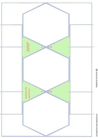 Hexagon Trifold Shutter Template Pop Up Card Templates Card Making Templates Templates