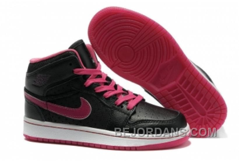 The Women's Air Jordan 1 Retro Shoes Black Purple White will keep your feet  comfortable while you're cutting, jumping, and running on the court.