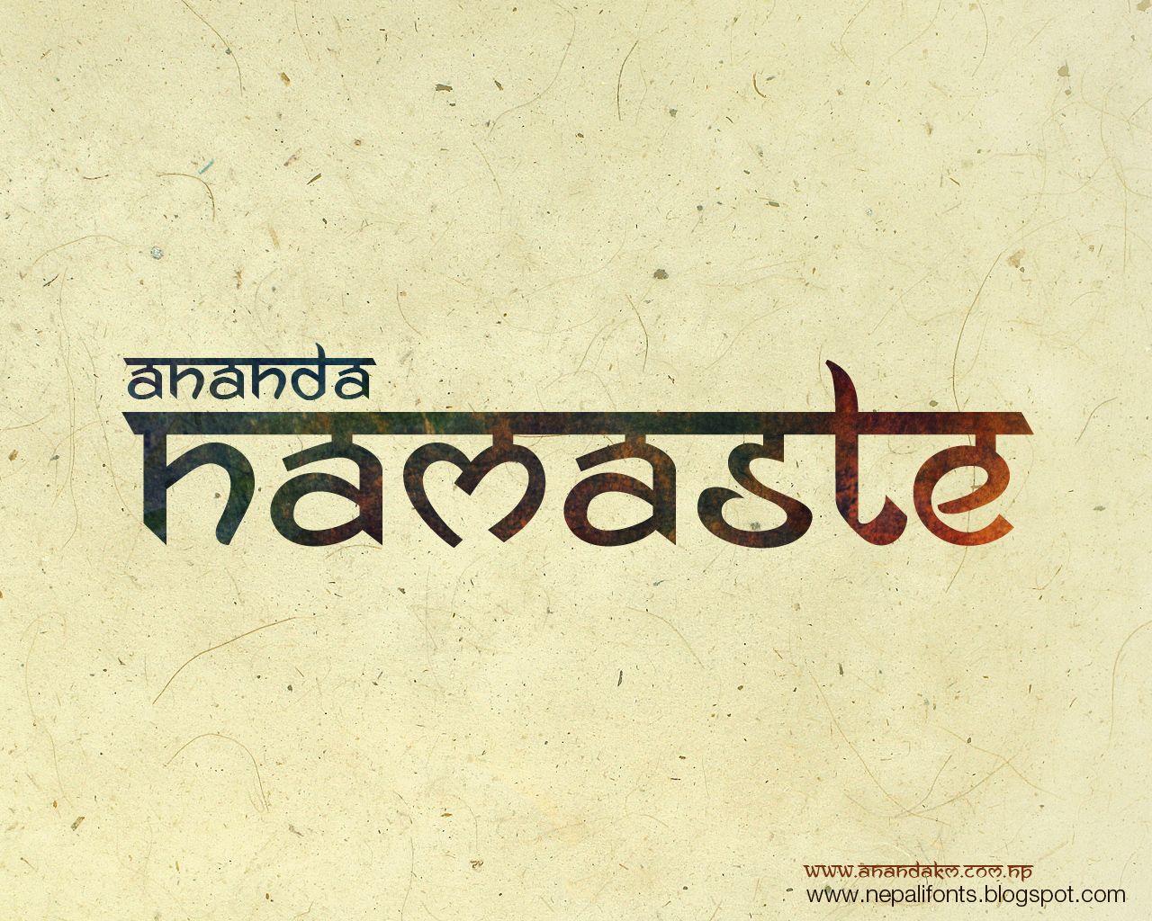 Fonts: Ananda Namaste (Neptouch 3) Namaste and Neptouch