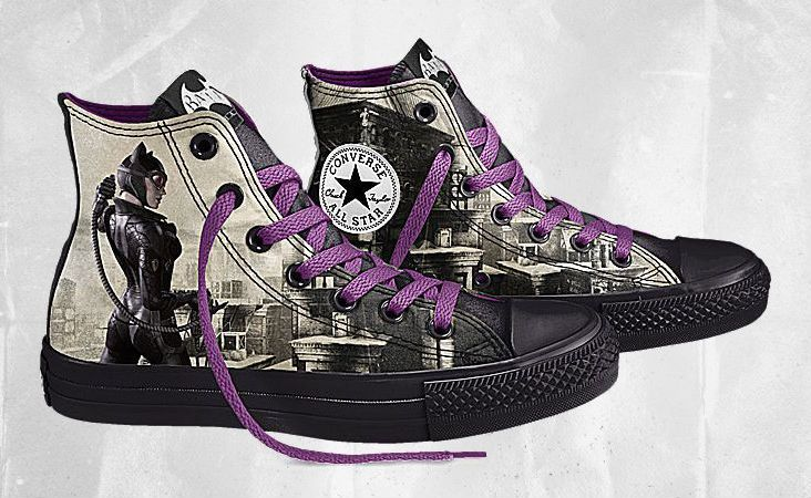 new styles bc293 4ac35 DC Comics x Converse Chuck Taylor All Star Batman Arkham City- THESE are  Catwoman Chucks!