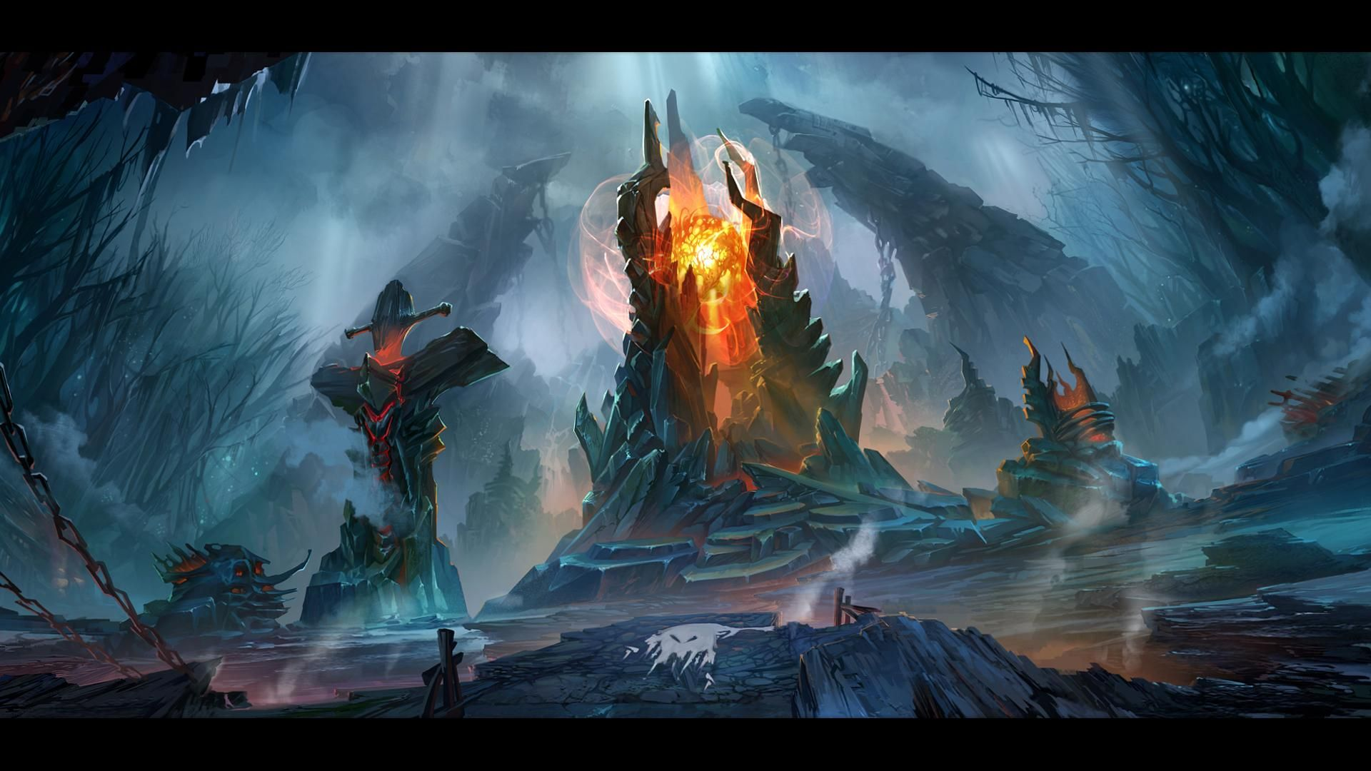 The dire throne wallpaper more httpdota2wallsmiscthe dire dota 2 the dire concept art upscaled wallpaper fresh hd wallpapers for your desktop voltagebd Image collections