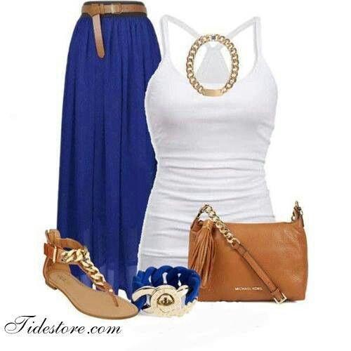 Azul rey   Outfit faldas y vestidos   Pinterest   Azul rey Rey y Azul
