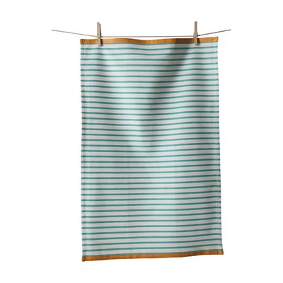 Mint Pantry Horizontal Stripe Towel Color: Turquoise