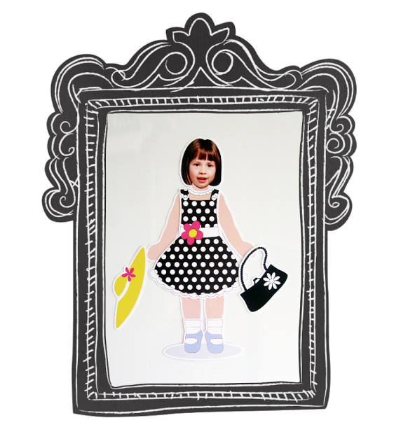 Silhouette UK: Personalised Magnetic Paper Dolls TUTORIAL authour:craftingquine.blogspot.co.uk #pinnowreadlater
