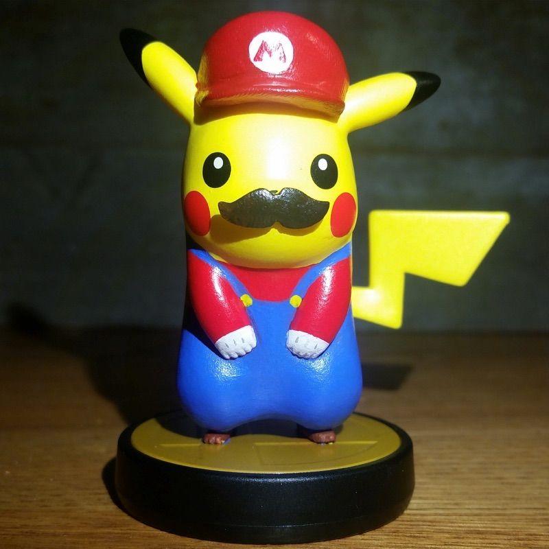 Custom Super Mario Pikachu amiibo - View more here   buyamiibo