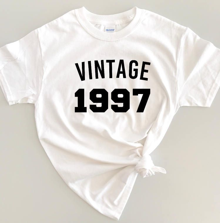 Vintage Custom Birthday Shirt Year Adult 21st Outfit Womens Retro 18th 30th 40th