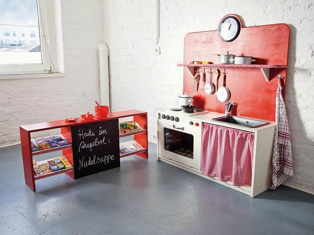 diy anleitung spielk che selber bauen via babys. Black Bedroom Furniture Sets. Home Design Ideas