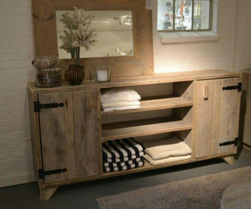 wandmeubel voor in de slaapkamer steigerhout wood pinterest