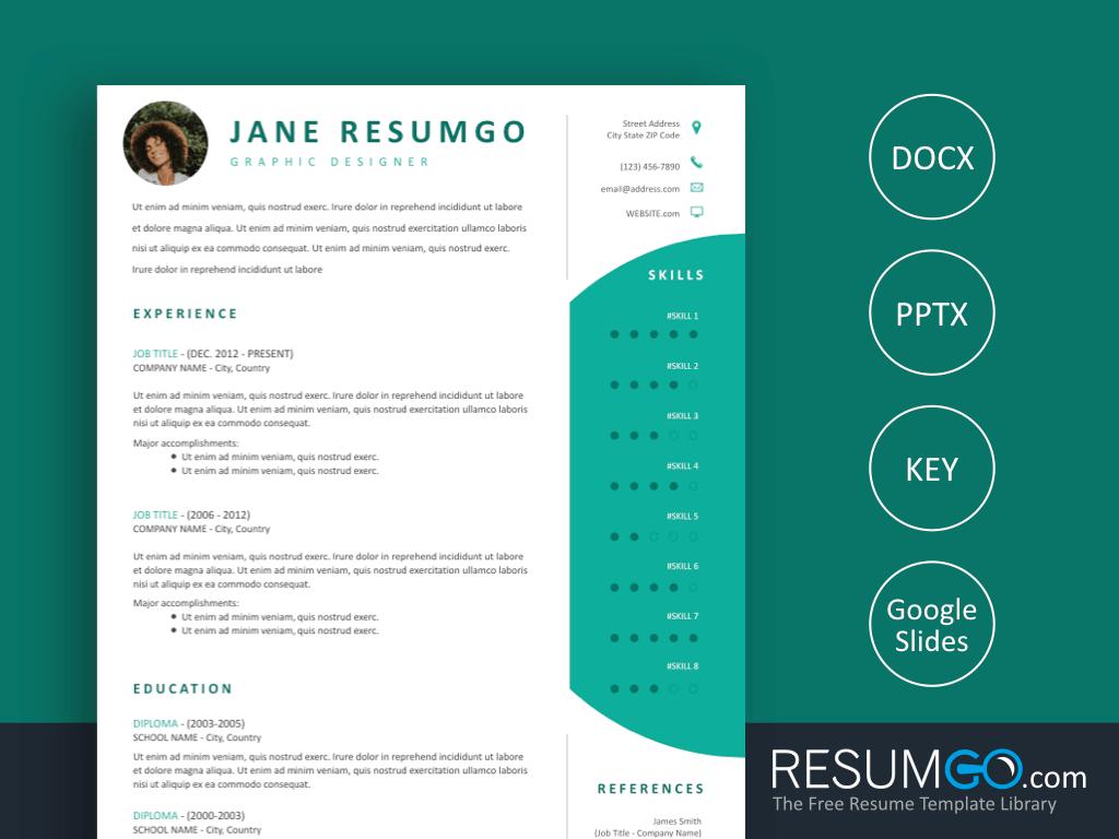 Damokles Modern And Professional Resume Template By Resumgo Resume Template Professional Resume Template Professional Resume