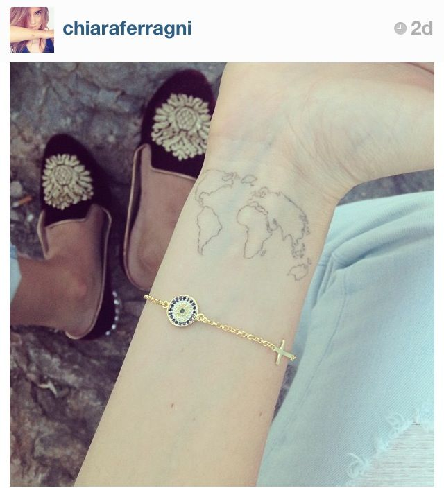 Chiara ferragnis tattoo i love the design and placement i think chiara ferragnis tattoo i love the design and placement i think this is what world map gumiabroncs Gallery