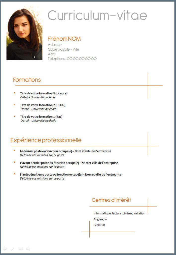 Livre Votre Cv En Anglais Et En Francais Your Resume Or Cv In French And In Exemple Cv Modele Cv Etudiant Cv Etudiant
