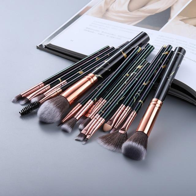 Photo of FLD5/10/15Pcs Makeup Brushes Tool Set Cosmetic Powder Eye Shadow Foundation Blush Blending Beauty Make Up Brush – 15pcs black