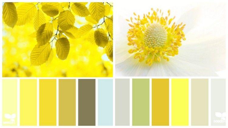 sonnengelb mit anderen farben kombinieren farbpalletten pinterest farben kombinieren. Black Bedroom Furniture Sets. Home Design Ideas