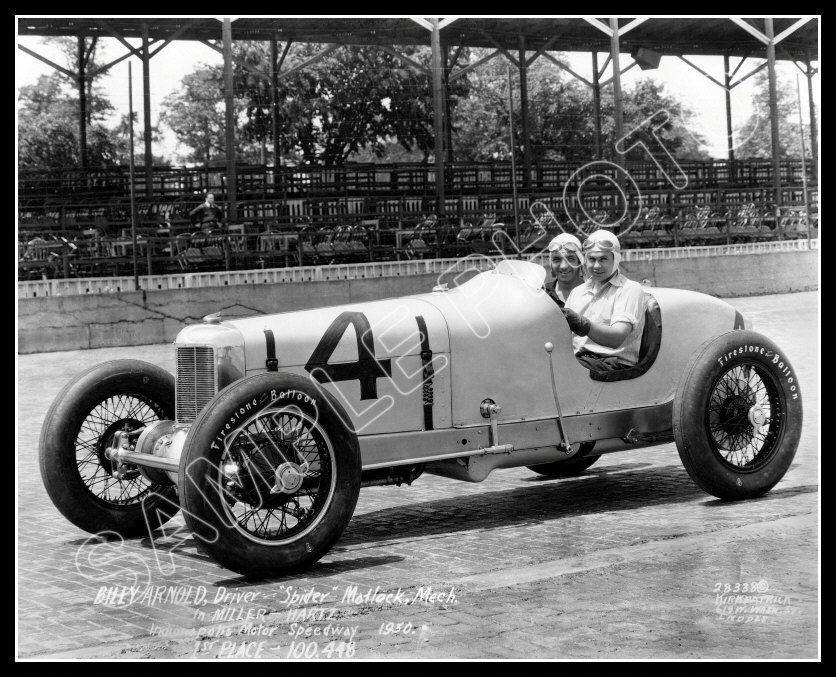 1930 Indy 500 Winner Billy Arnold 1 Racing Photo 8x10