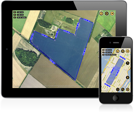 Measure Land Area and Distance on a Map iPhone / iPad