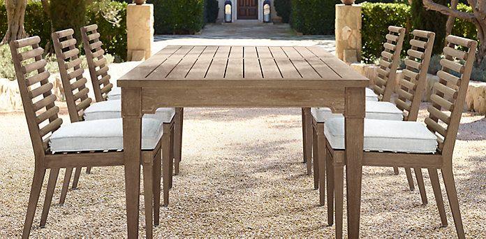 Devon Outdoor Collection Weathered Grey Teak Restoration Hardware Outdoor Furniture Sets Teak Garden Furniture