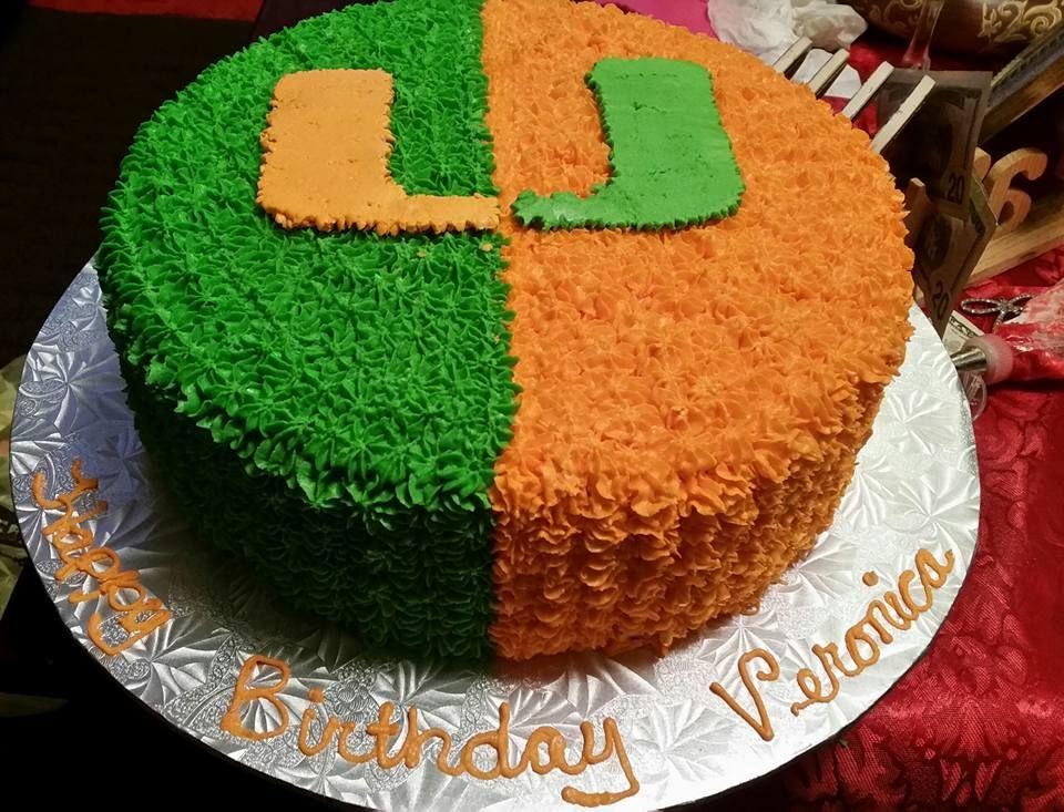 Miami Hurricanes Cake Cakes And Treats I Ve Made Cake