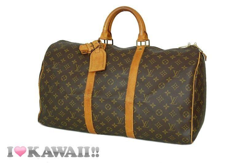 Authentic Louis Vuitton Monogram Keepall 50 Bag Boston Duffle Free Shipping! #LouisVuitton #Handbag