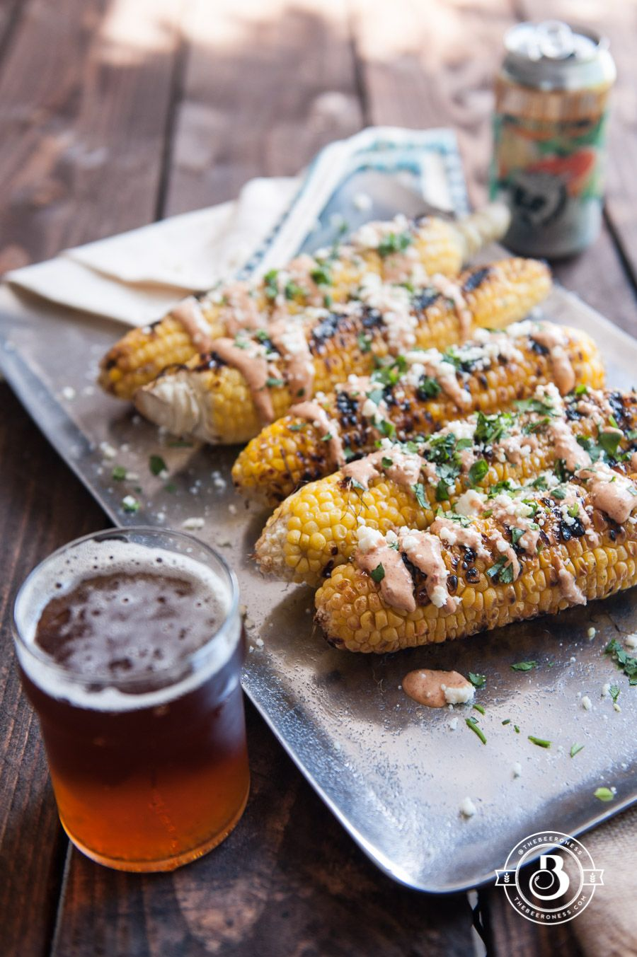 Grilled Street Corn with IPA Chipotle Cream What's The