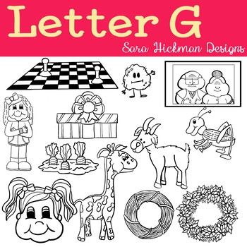 Chubby Cheek Clipart Letter G Black And White Only Sara