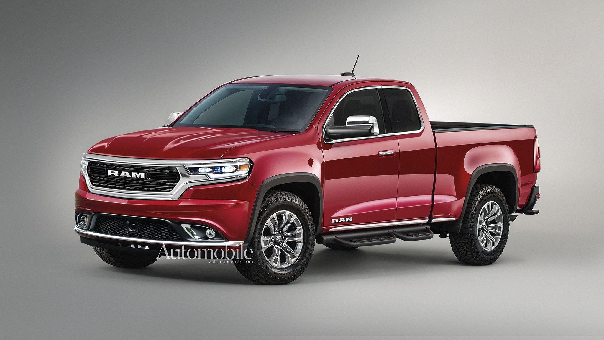 2021 Ram Dakota Midsize Pickup Truck Renderings Rumors Pickup Trucks Dodge Dakota Trucks