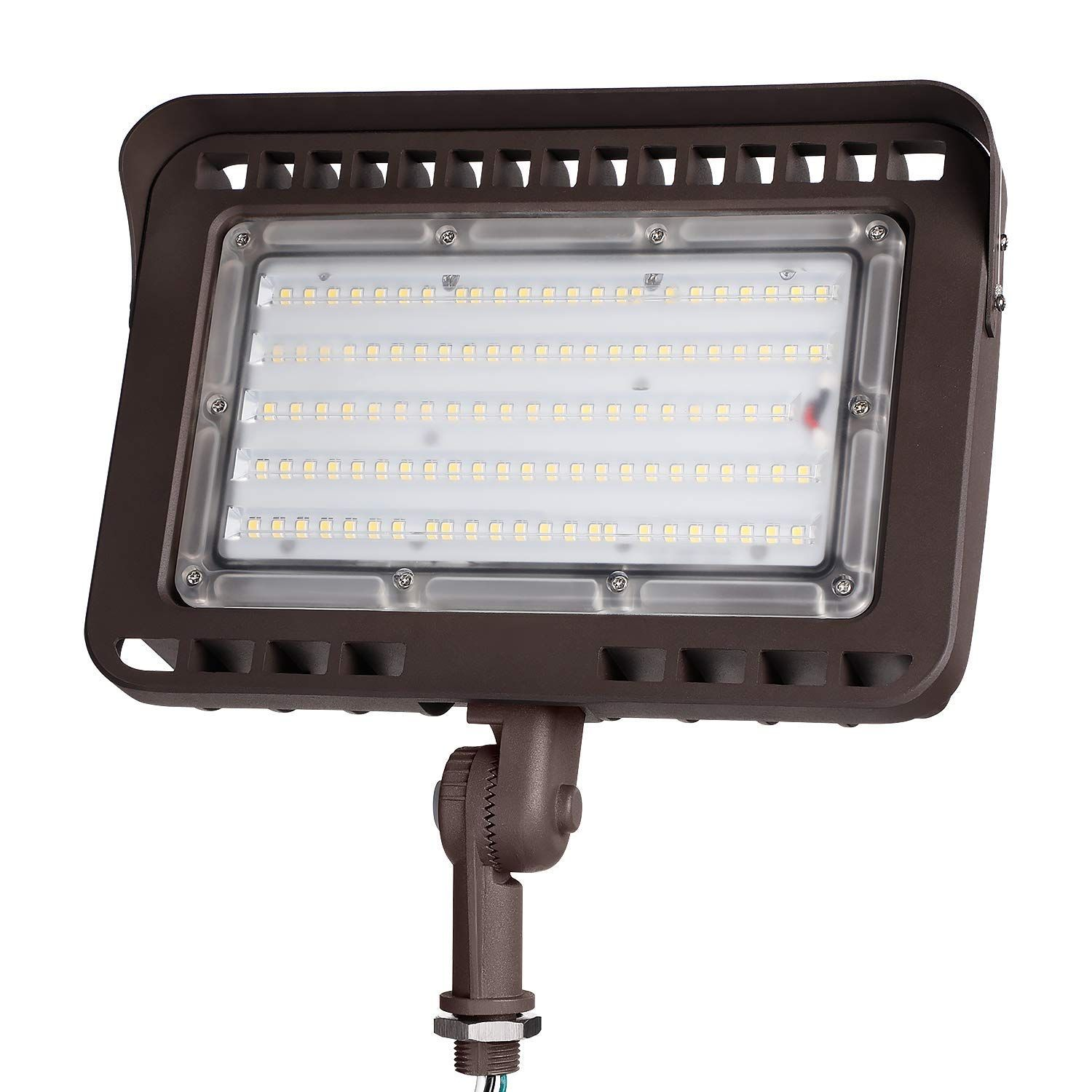 Leonlite 100w Led Outdoor Flood Light With Knuckle Mount 11 000lm Super Bright Wall Washer Security Outdoor Flood Lights Led Outdoor Flood Lights Flood Lights