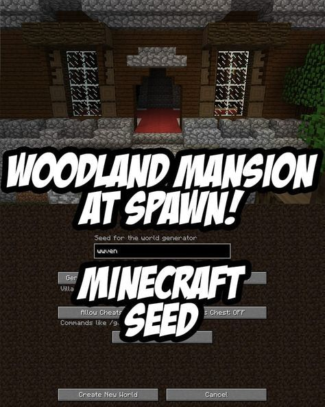 Woodland Mansion At Spawn. Seed:wwven (Minecraft 1.11