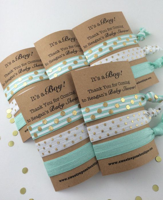 Items Similar To Baby Boy Shower Favors, Baby Boy Shower, Hair Tie Favors, Baby  Shower Favors Boy, Its A Boy, Boy Shower Favors, Baby Shower Hair Ties, ...