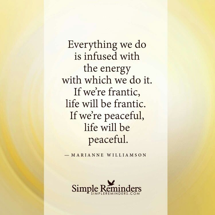 Everything we do is infused with energy