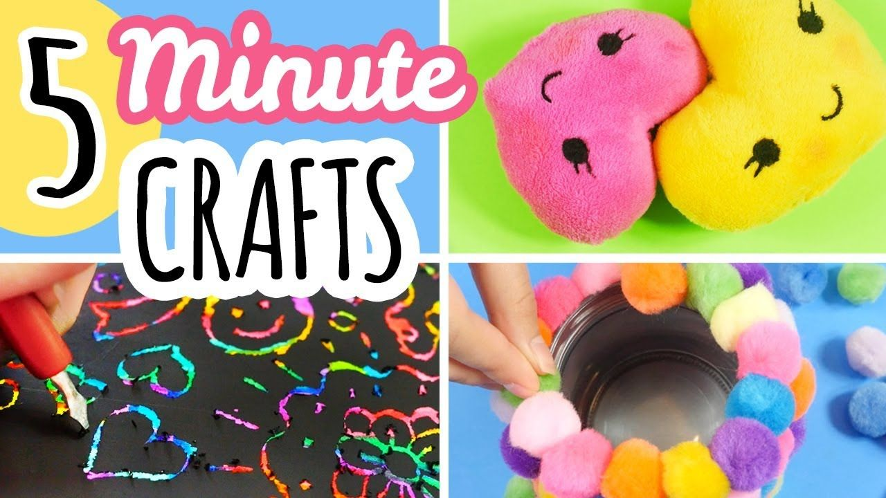 5 Minute Crafts To Do When You Are Bored YouTube Fun