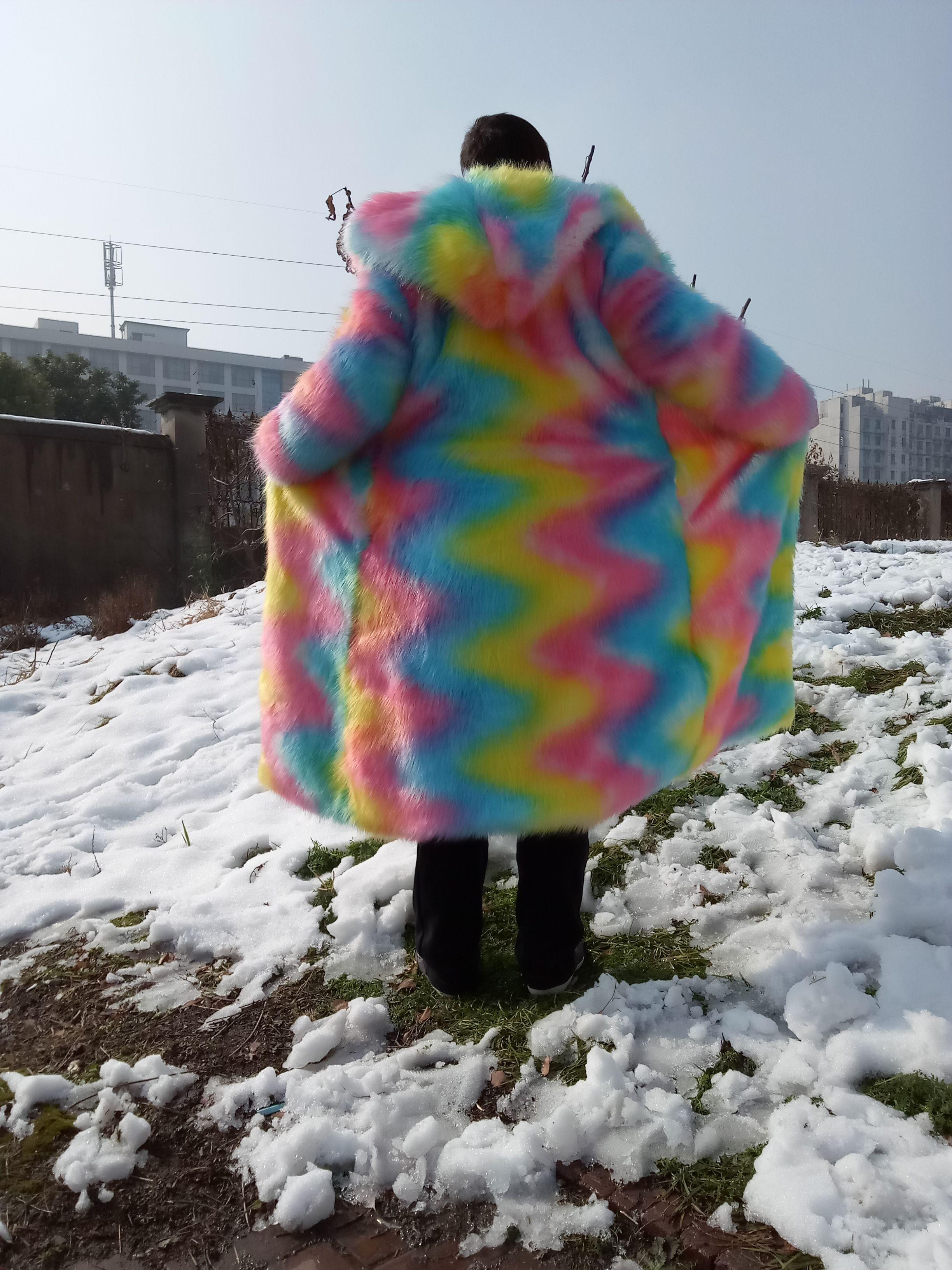 172 8us 20 Off Gtgyff Mens Artificial Fur Jacket Coat With Hood Autumn Winter Men Hoodies Rainbow Faux Fur Outerwear Coat Man S 5xl Oversize Faux Leather Coa Faux Leather Coat Long Faux [ 3264 x 2448 Pixel ]