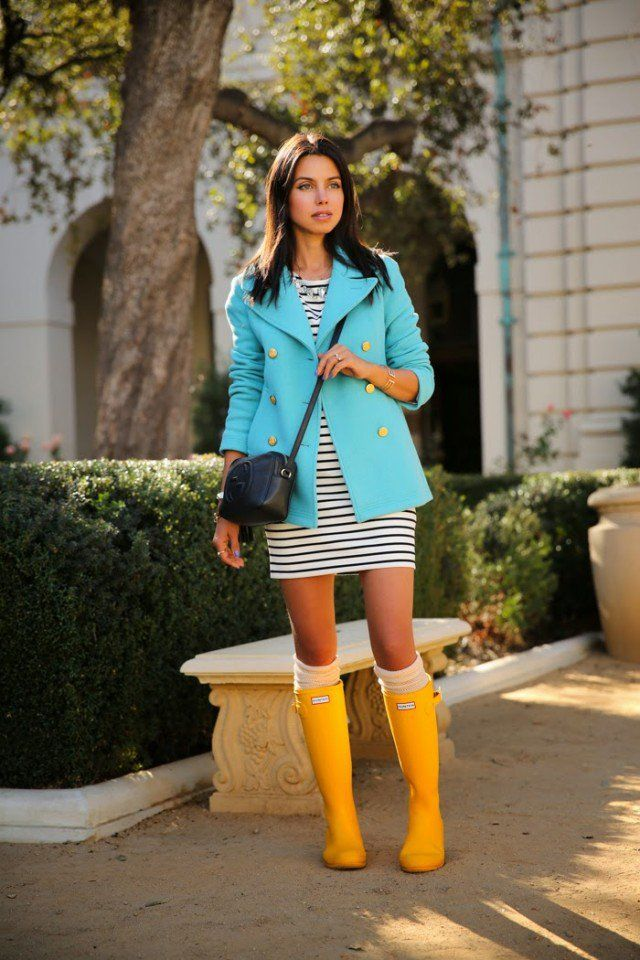 6 Super Chic Ways to Wear Rainy Boots - Fashiontrends4everybody