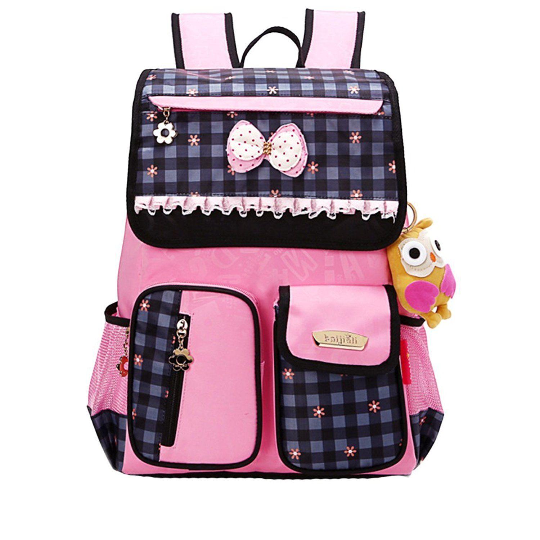 moonwalk cute princess bow girls backpacks for elementary school